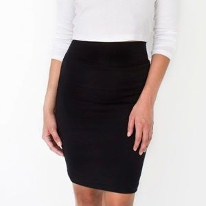 American Apparel Stretchy High Waisted Pencil Skirt Black Size Small